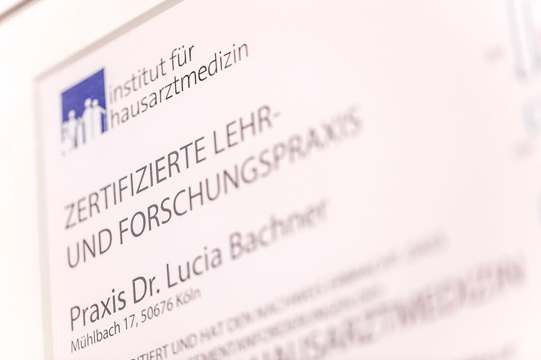 Hausarzt Köln Innenstadt - Dr. Lucia Bachner - Lehr- und Forschungspraxis